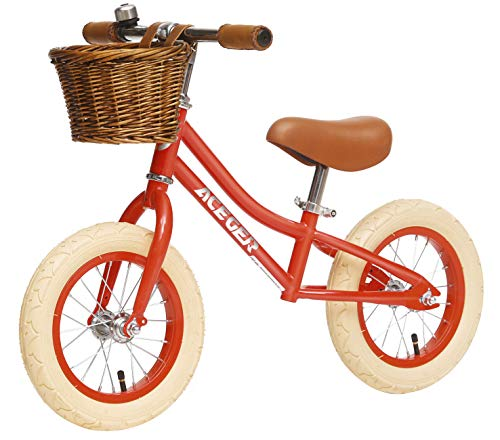ACEGER Balance Bike with Basket for Kids, Ages 2 to 5 Years(Red)