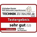 WMF Küchenminis Langschlitz-Toaster, integrierter Brötchenwärmer, cromargan matt, silber - 13