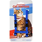"""Coastal Pet Adjustable Figure H Cat Harness, Blue 