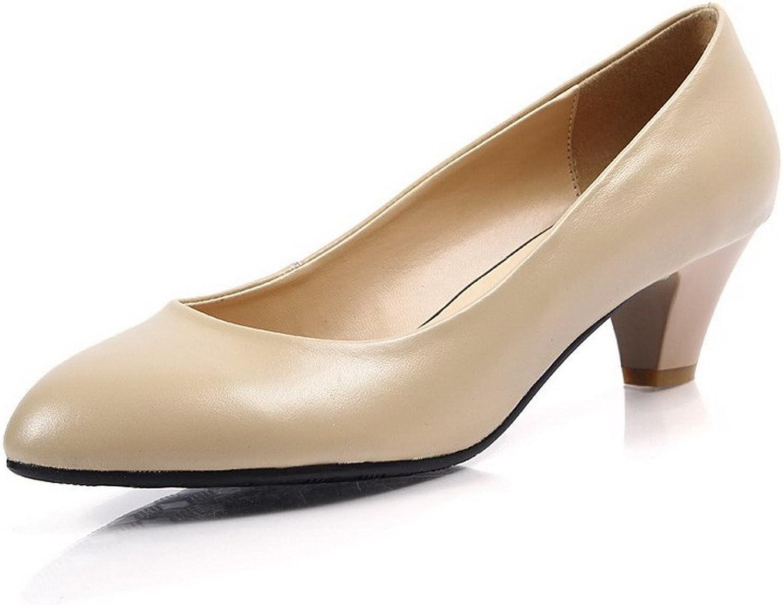 BalaMasa Womens Pull On Kitten Heels Solid Pumps shoes
