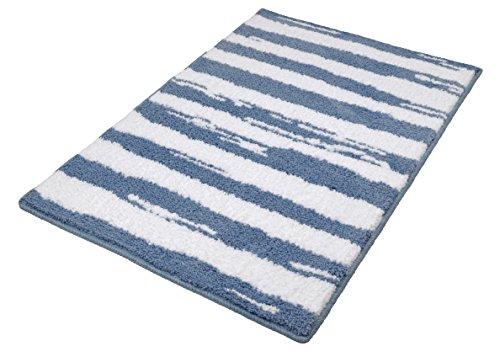 Kleine Wolke Tappeto da Bagno 4081746519Tunisi, 100percento Poliestere, Blu Acciaio, 90x 60cm