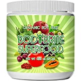 Superfood Powder Total BodyBrite 100% Raw, Organic, Best Green Superfood Nutritional Supplement. 21 Delicious Fruits, Greens & Vegetables. Amazing Antioxidants. by Sunlit Best Green Organics
