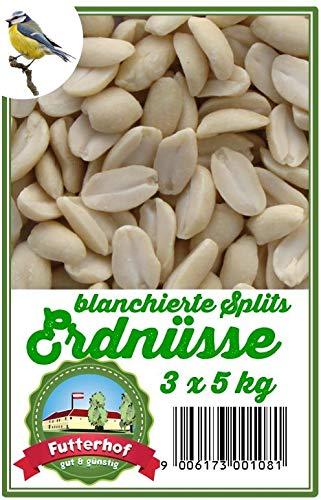 Futterhof Erdnusskerne blanchierte Splits 3 x 5 kg = 15 kg, GRATIS Versand mit DHL