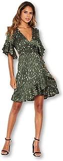 AX Paris Women's Printed Full Wrap Mini Dress