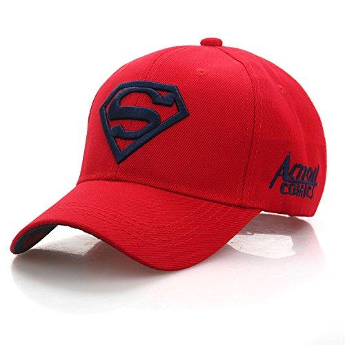 Gorra de Beisbol Ajustable a la Moda Unisex para Hombre y Mujer, Gorra Bordada Elastica de Superman Hip-Hop, 3 Colores