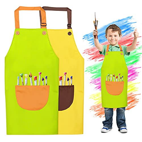 Tablier Peinture Enfant,Tablier Enfants avec Poches,Réglables Kids Tablier de Chef,Personnalisé de Enfant Tablier,Personnalisé de Enfant Tablier, Tablier de Cuisine pour Enfants à la Mode Peinture