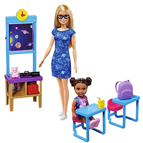 Barbie Space Discovery Dolls and Science Classroom Playset with Barbie Teacher Doll