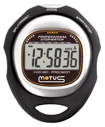 Motus Trainer MT35 Stoppuhr mit Messung von Zwischenzeiten (Split time) Schwarz