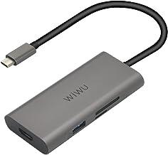 Ushining USB C Hub Type C Adapter UCN3241 7 in 1 Ultra Slim Data Hub for MacBook, Dell XPS 13, Chrome Book, Samsung S8