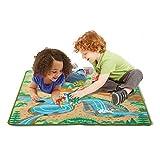 Melissa & Doug Prehistoric Playground Dinosaur Activity Rug (39 x 36 inches) - 4 Toy Animals