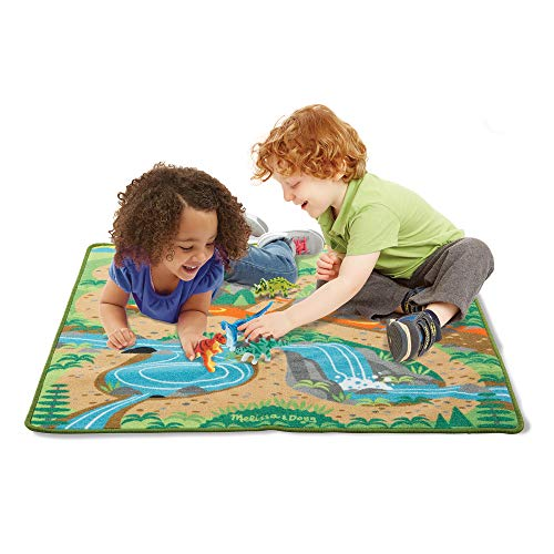 Melissa & Doug Prehistoric Playground Dinosaur Activity Rug (39 x 36 inches) - 4 Toy Animals - http://coolthings.us