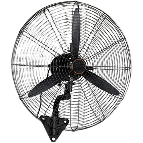 Haojie Ventilador eléctrico Industrial, Ventilador de Pared de Oficina, refrigeración por Aire oscilante de 3 velocidades + 3 Modos de Viento, Negro,78cm