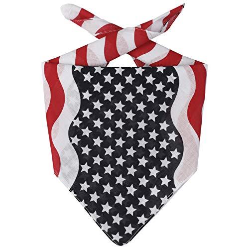 Lipodo USA Bandana Halstuch Kopftuch Stirnband Schal Gesichtsschutz Damen/Herren/Kinder - Frühling-Sommer Herbst-Winter - One Size blau-rot