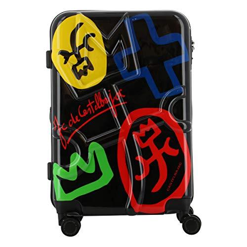 [カステルバジャック] スーツケース 50(56)L 57cm 3.7kg クラーキャリー 345170 CASTELBAJAC ハード ファスナー 拡張 TSAロック搭載 キャリーバッグ キャリーケース 静音キャスター 【98】ブラック -