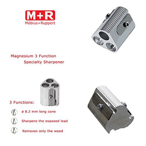 Mobius + Ruppert (M+R) Magnesium 3 Function Specialty Sharpener - Made in Germany - finest in the world!