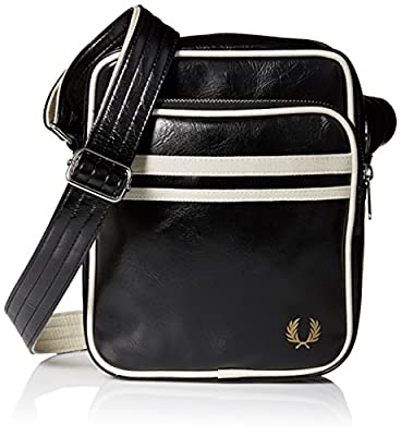Fred Perry Men's Classic Side Bag, black/ecru, One Size