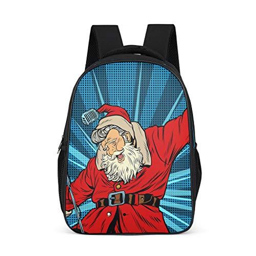 LAOAYI WeihnachtenSerie Teenager Schulranzen Praktischen Leichtgewicht Backpack Unisex Grundschüler FunktionsrucksackRucksack Tagesrucksack für Mehr Stauraum Shopping Grey OneSize