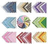 56Stk 8 Farbsystem Patchwork Stoffe 100% Baumwolle Bunte