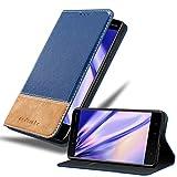 Cadorabo Coque pour Nokia 8 2017 en Bleu Brun - Housse Protection avec Fermoire Magnétique, Stand...