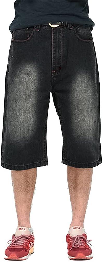 LUOBANIU Men's Casual Denim Shorts Loose Fit Summer Jeans Shorts Skateboard Jogging Dance Shorts