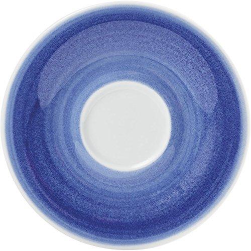 KAHLA Untertasse PRONTO AKTION Wir machen Blau!, 12 cm, Kaethe W. Ofensortierung (H.Nr. 203501O75004C)