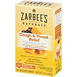 Zarbee's Naturals Cough & Throat Relief Daytime Drink Mix with Vitamin C, D, B-Complex, Zinc & Real Elderberry, Natural Apple Spice Flavor, 6 Packets