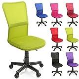 TRESKO Bürostuhl Schreibtischstuhl Drehstuhl, mit Kunststoff-Leichtlaufrollen, stufenlos...