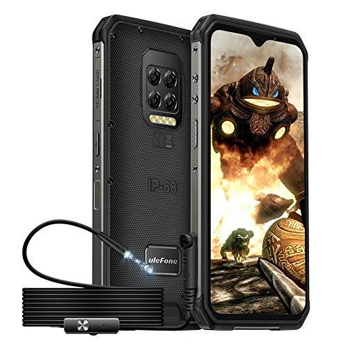 Outdoor Handys ohne Vertrag und Endoskop, Ulefone Armor 9E Smartphones, Android 10, Octa-Core 8+128GB (Erweiterung auf 2TB), 6,3-Zoll-FHD+Display, 64MP-Hauptkamera, 6600mAh Batterie