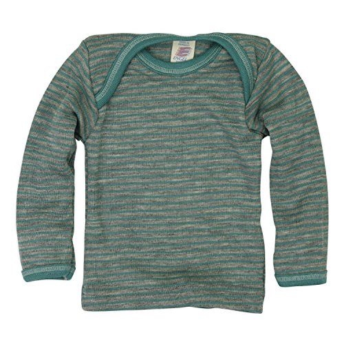 Maglietta baby a manica lunga in lana mista seta col. grigio/ ghiaccio