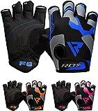 RDX Fitness Handschuhe Damen Herren, Gewichtheben Trainingshandschuhe Krafttraining, rutschfest Gym Bodybuilding Workout Weight Lifting Gloves, Kraftsport Klimmzüge Workout, Powerlifting Radfahren