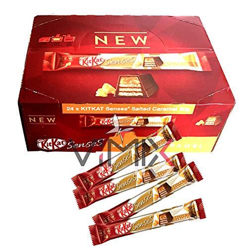 Caja completa de Nestle KIT KAT Senses Caramelo Salado 24 x 30 g