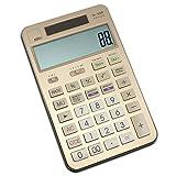 mts fn-X88 OFFICE Taschenrechner Calculator Tischrechner Büro Rechner Steuer Tax MwSt USt großes Display XL edel exklusiv Metall Aluminium 4 Farbvarianten schwarz gold silber pink rosa (gold)
