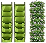 LITLANDSTAR - Bolsas de jardinera colgantes (2 unidades, pared vertical, con 7 compartimentos)