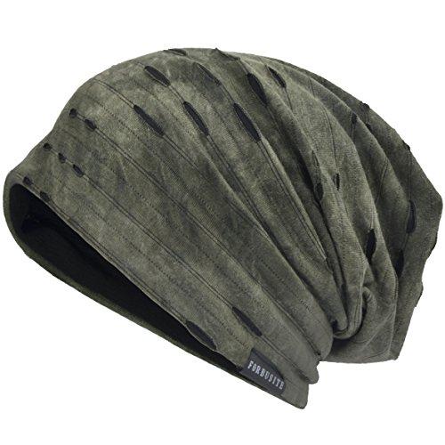 VECRY VECRY Herren Jersey Slouch Mütze Sommer Skullcap (C-Grün, Dünn Cool)