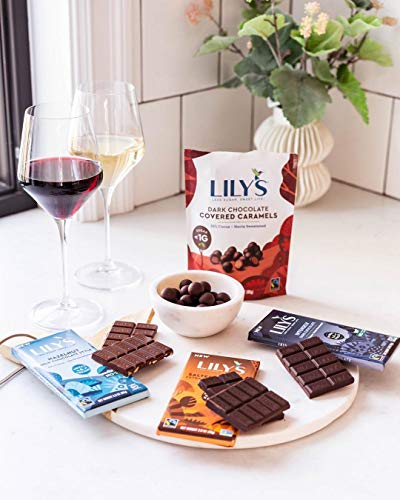 Hazelnut Milk Chocolate bar By Lily's | Stevia Sweetened, No Added Sugar, Low-Carb, Keto Friendly | 40% Cocoa | Fair Trade, Gluten-Free & Non-GMO | 2.8 Oz, 12-Pack