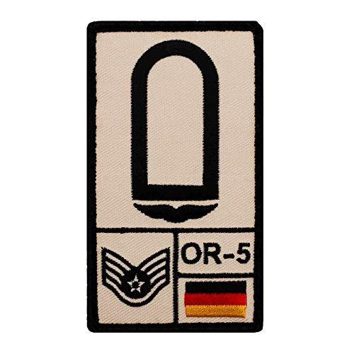 Café Viereck ® Stabsunteroffizier Luftwaffe Bundeswehr Rank Patch mit Dienstgrad - Gestickt mit Klett – 9,8 cm x 5,6 cm