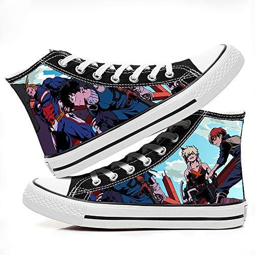 Ga-yinuo My Hero Academia Alpargatas Zapatos Hombre Zapatillas Casual Bambas Zapatos Mujer Adolescente Zapatillas Deportivas Zapatos Planos Unisex Anime Shoes 36