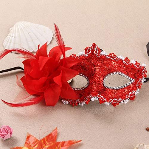 SONGSH Halloween-decoratiemasker zijdebloem kanten masker prinses masker half gezichtsmasker performing oogmasker Halloween-masker vakantie levert