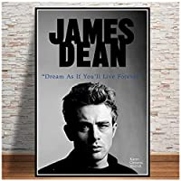 アメリカ映画俳優スタージェームズディーンポスタープリントキャンバス壁アートヴィンテージ壁写真リビングルーム家の壁の装飾50x70cmx1フレームなし