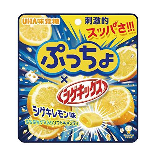 UHA味覚糖 ぷっちょ × シゲキックス シゲキレモン味 52g×4袋