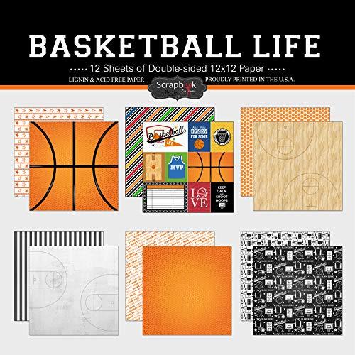 Scrapbook Customs Themed Paper Scrapbook Kit, Basketball Life