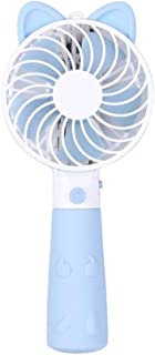 Color : Blue MDYYD Mini USB Table Desk Personal Fan USB Rechargeable Small Adjustable Speed Small Fan for Traveling Strong Wind,Quiet Operation,for Home Office.