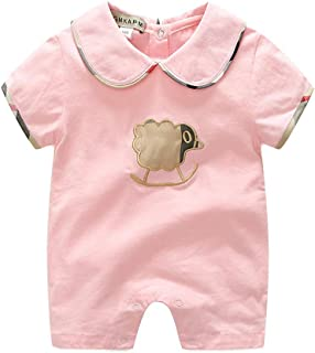 New Baby Onesie Spring and Autumn Thin Style Summer Long Sleeve Baby Air Conditioning Clothes Ha Clothes Open Gear Climbing Clothes Red 12-18