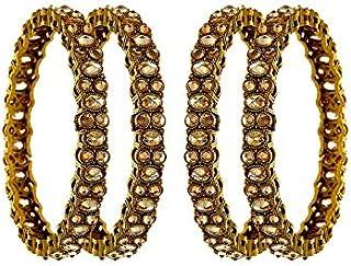 Anuradha Art Silver Finish Styled with Classy Metallic Beads Fancy Hand Bracelet//Kada for Women//Girls