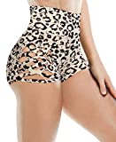 Bwogeeya Womens Stretch High Waisted Athletic Shorts Cross Side Tie Dance Camo Yoga Workout Running Short