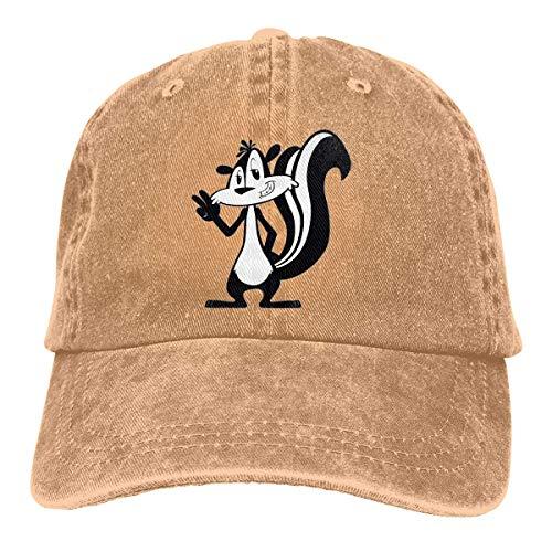 XCNGG Funny Skunk Unisex Vaquero Sombreros Deporte Sombrero De Mezclilla Gorra De Béisbol De Moda Negro
