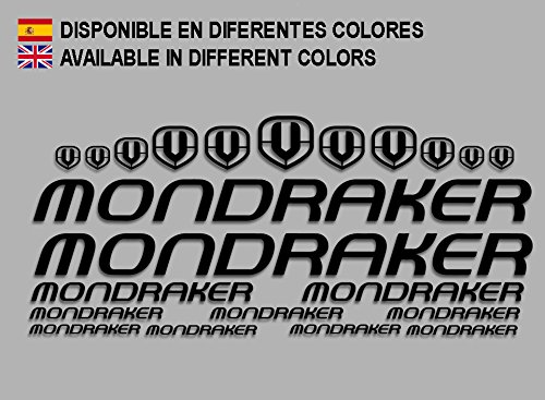 Ecoshirt JB-OBX3-9UZO Sticker Mondraker F163 Vinyl Adesivi Decal Aufkleber Polyurethan-MTB Stickers Bike, schwarz