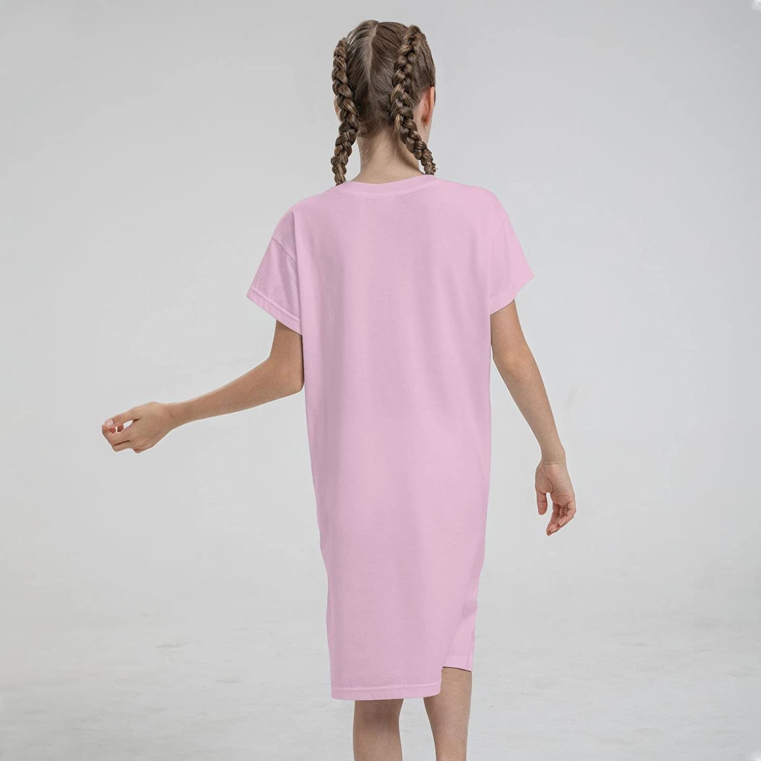 The Seven Deadly Sins Ban Girls Short Sleeve Dress Casual Swing Twirl Skirt for Holiday Theme Party 7-12 Years