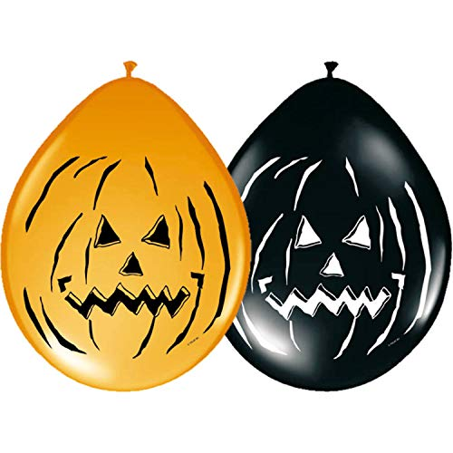 Folat 8Stk. Luftballons 30cm Halloween Horror Kürbis