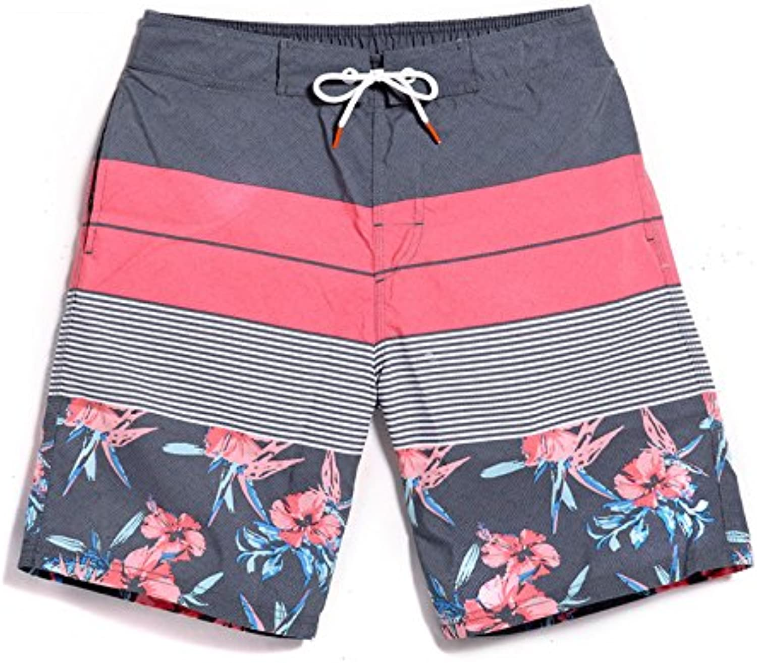 HAIYOUVK Male youth Beach pants Quick dry Large yard Loose Leisure Flower Shorts Waterproof Vacation Swimming trunks